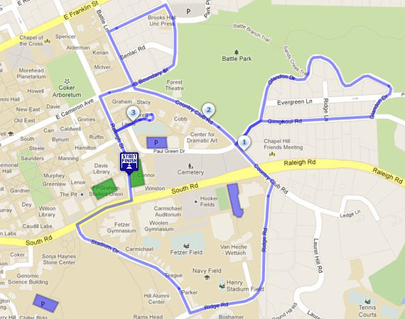 DNA Day 5K Course Map