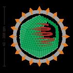 https://commons.wikimedia.org/wiki/File:Enveloped_icosahedral_virus.svg